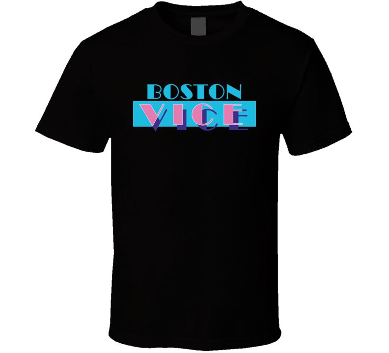 Boston Miami Vice Parody Retro TV Show T Shirt