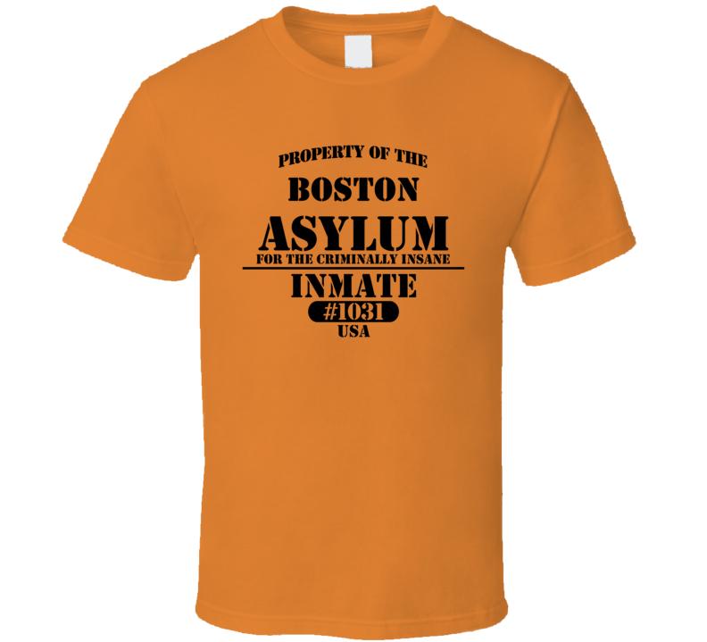 Boston Insane Asylum Inmate Halloween Costume T Shirt