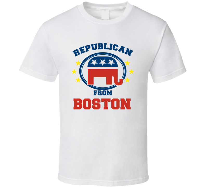 Republican From Boston Custom T Shirt