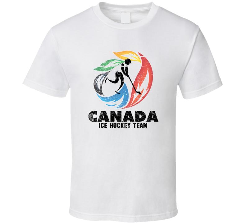 Canada Ice Hockey Team 2014 Olympic Sochi Vintage Distressed T Shirt