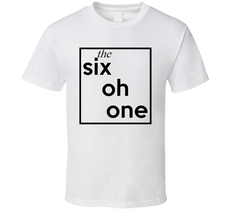 Six Oh One Mississippi 601 Fun Cool Area Code City Pride T Shirt