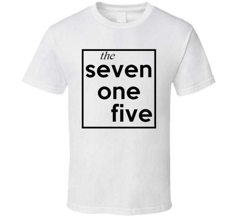 Seven One Five Wisconsin 715 Fun Cool Area Code City Pride T Shirt