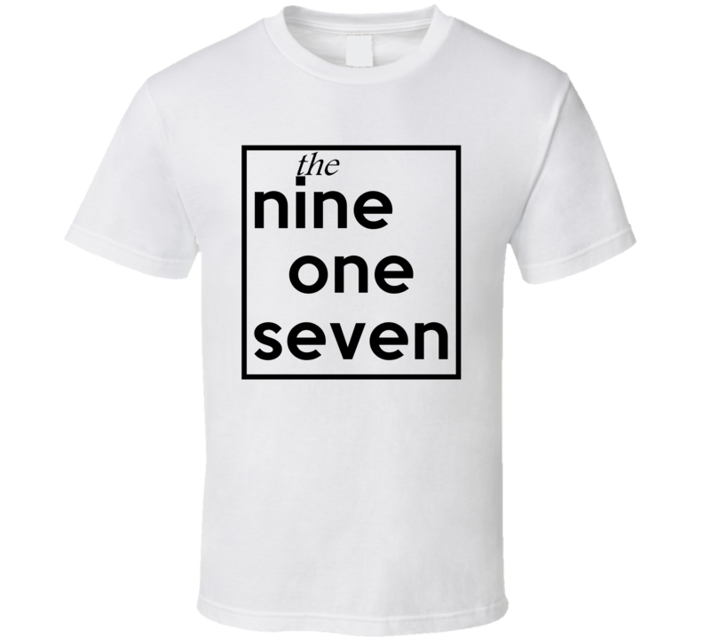 Nine One Seven New York 917 Fun Cool Area Code City Pride T Shirt