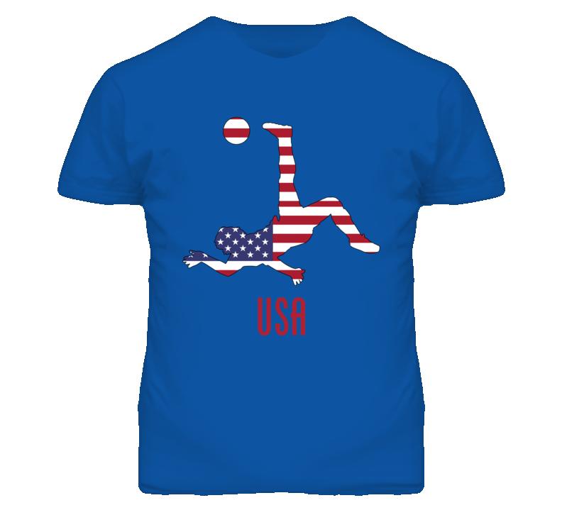 USA World Cup Soccer Football Mens Blue T Shirt