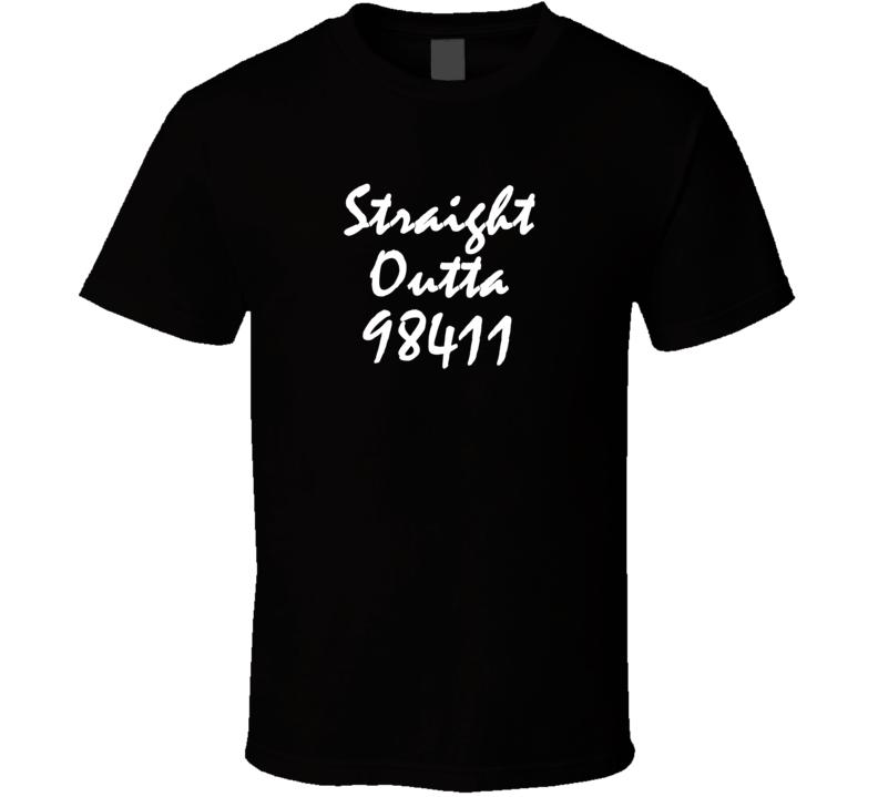98411 Tacoma WA Pierce County USA Los_Angeles Zip Code Straight Outta T Shirt