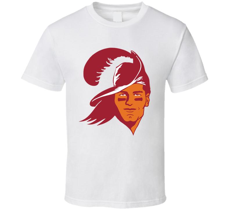Tom Brady Bucc Pirate Hat Brett Favre Tampa Bay Football T Shirt