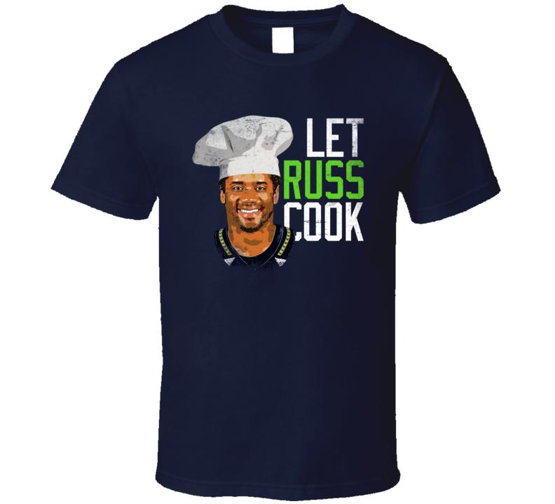 Let Russ Cook Russell Wilson Chef Seattle Football T Shirt