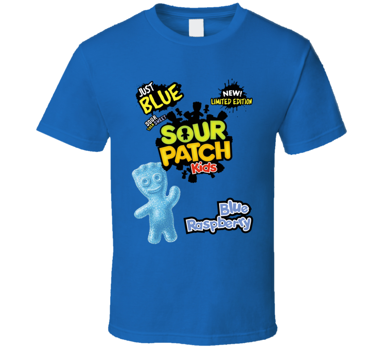 Sour Patch Kids Blue Raspberry Candy Sweets Foodie Fan T Shirt