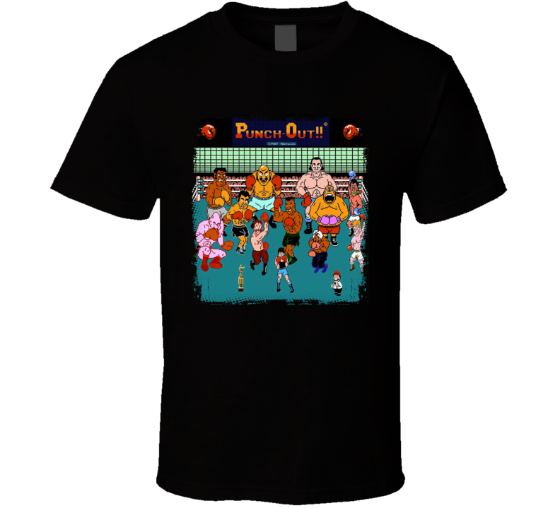 Mike Tyson's Punch Out Characters Retro Boxing Video Game Fan T Shirt