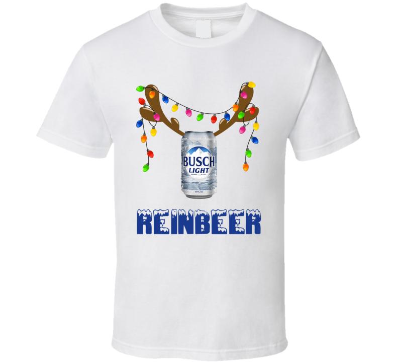 Busch Light Reinbeer Funny Beer Lager Fan Christmas T Shirt