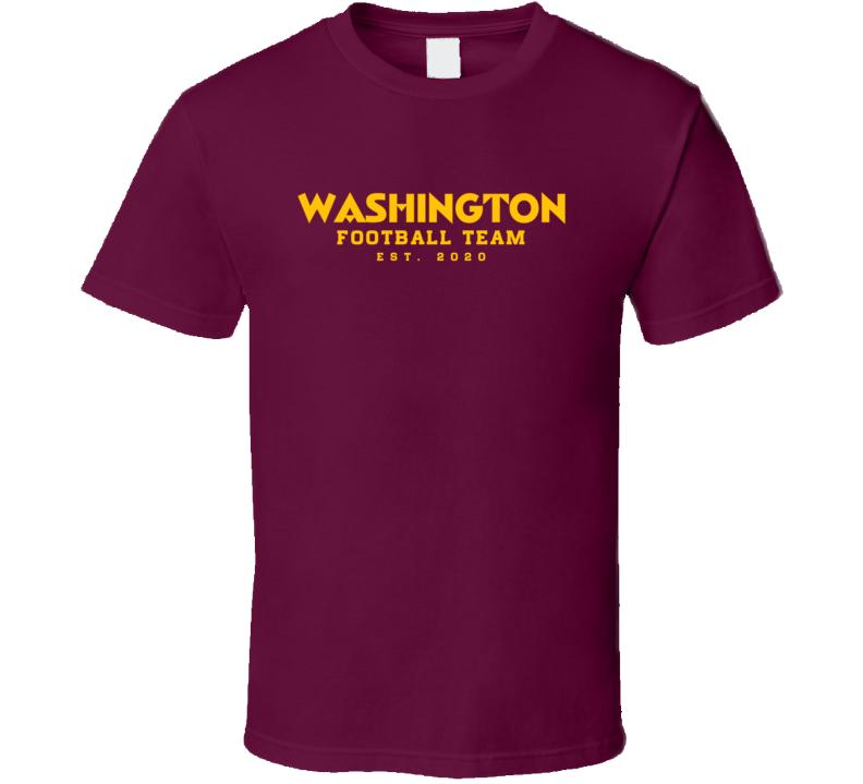 Washington Football Team Est 2020 T Shirt