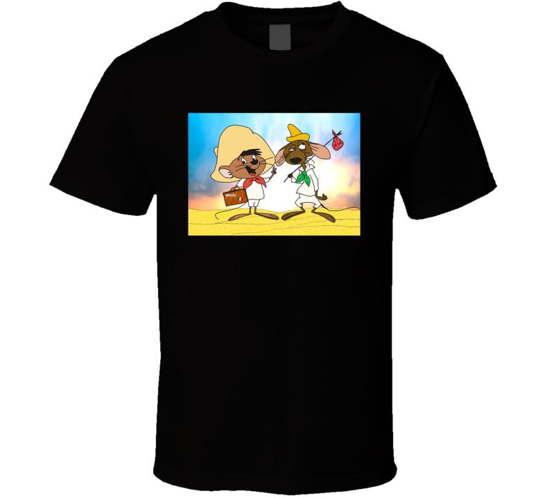 Speedy Gonzales And Slowpoke Rodriguez Funny Cartoon T Shirt