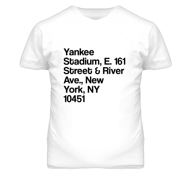 New York Yankees Stadium Street Address T Shirt