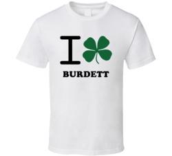 Burdett Schuyler County New York State I Love Heart Clover T Shirt