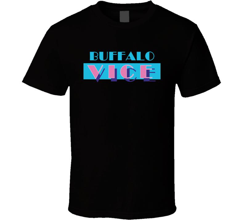 Buffalo Erie County New York State Miami Vice Police Parody T Shirt