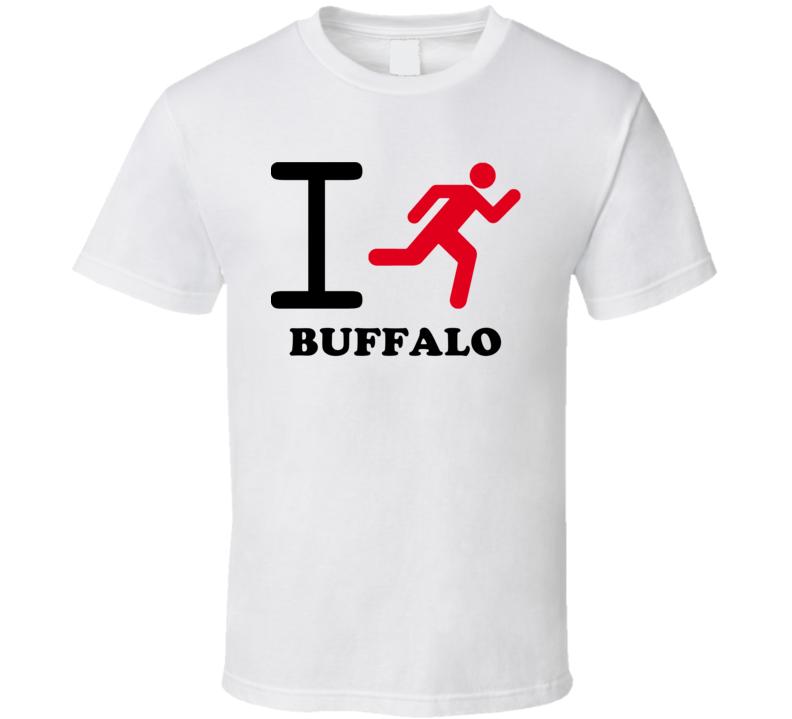 Buffalo Erie County New York State I Love Heart I Run T Shirt