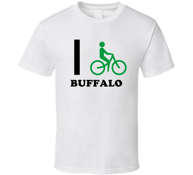 Buffalo Erie County New York State I Love Heart I Bike T Shirt