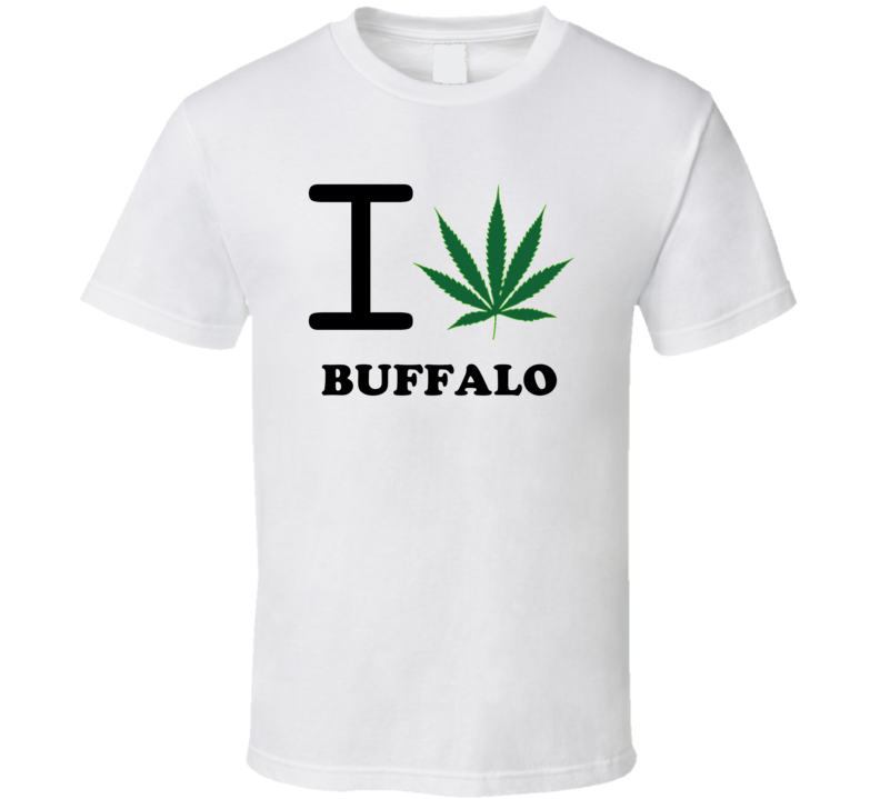 Buffalo Erie County New York State I Love Heart Weed T Shirt