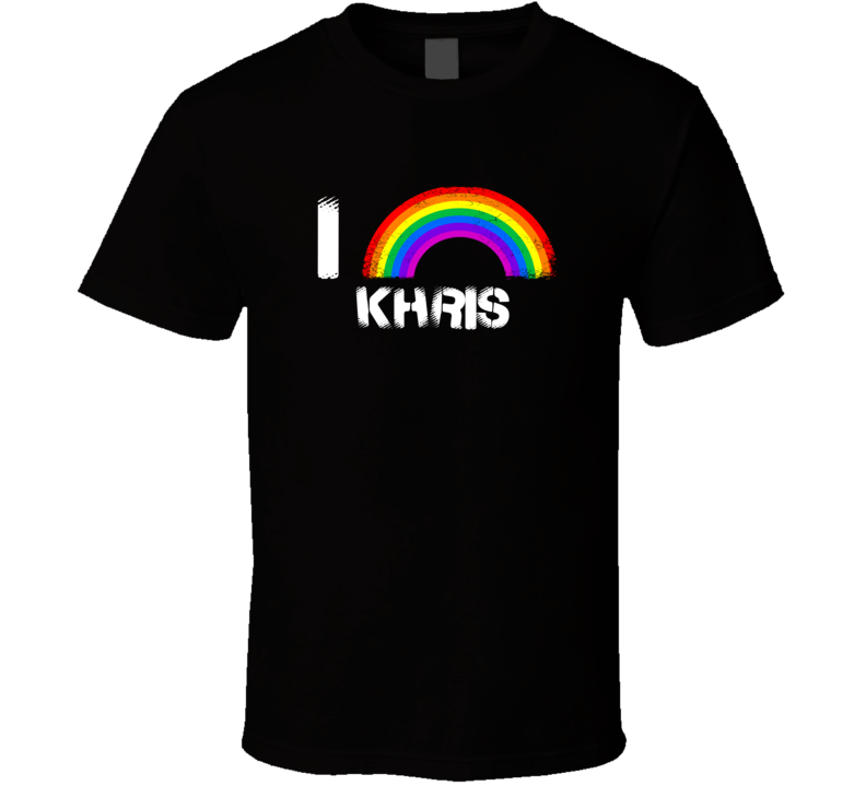 I Love Khris Rainbow Pride Name T Shirt