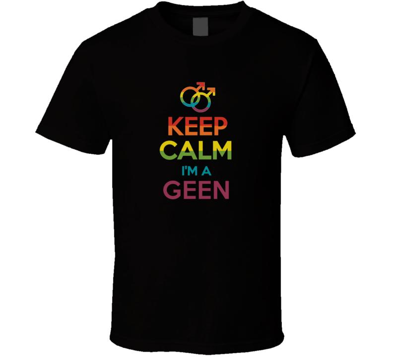 Keep Calm Im A Geen Last Name Gay Pride LGBT T Shirt