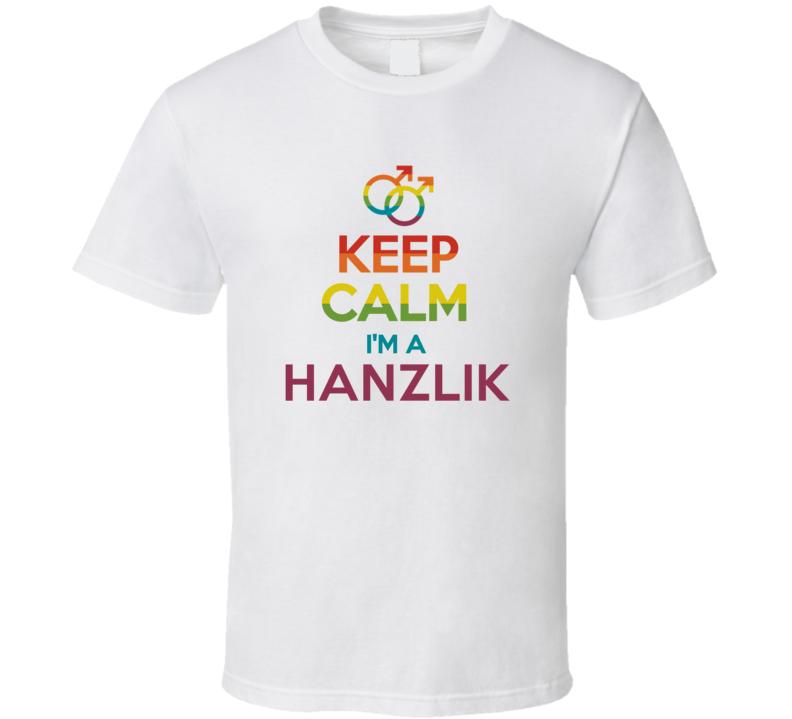 Keep Calm Im A Hanzlik Last Name Gay Pride LGBT T Shirt