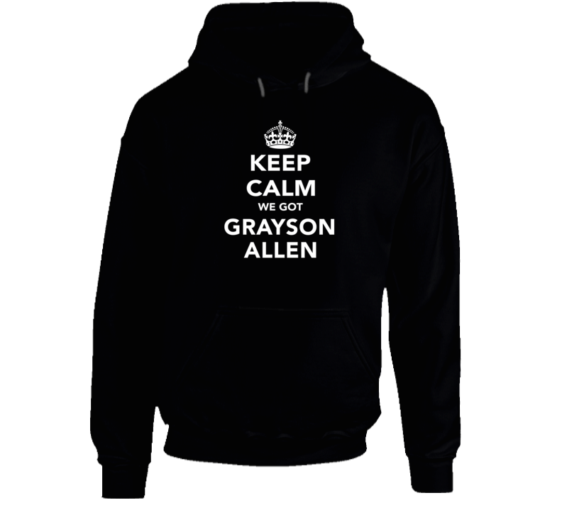 Grayson Allen Keep Calm Duke Basketball Fan Hoodie