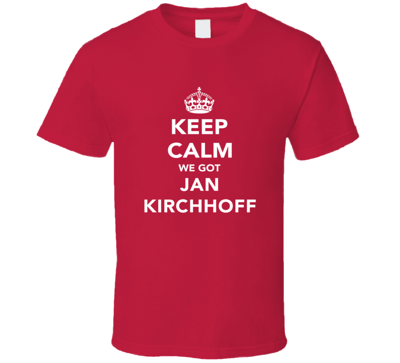 Jan Kirchhoff Keep Calm Munich Soccer Fan Cotton T Shirt