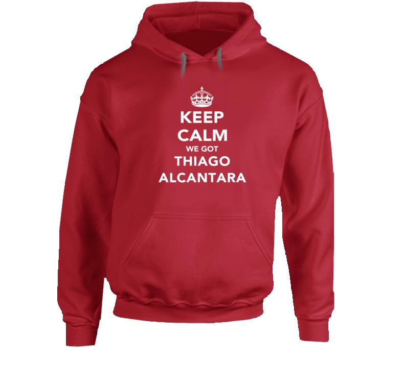Thiago Alcantara Keep Calm Munich Soccer Fan Hoodie