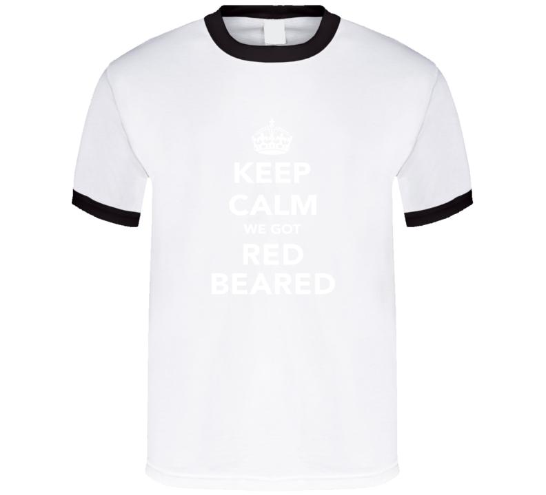 Red Beared Keep Calm Xabi Alonso Munich Soccer Fan Cotton T Shirt