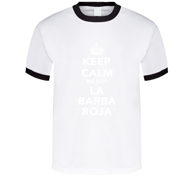 La Barba Roja Keep Calm Xabi Alonso Munich Soccer Fan Cotton T Shirt