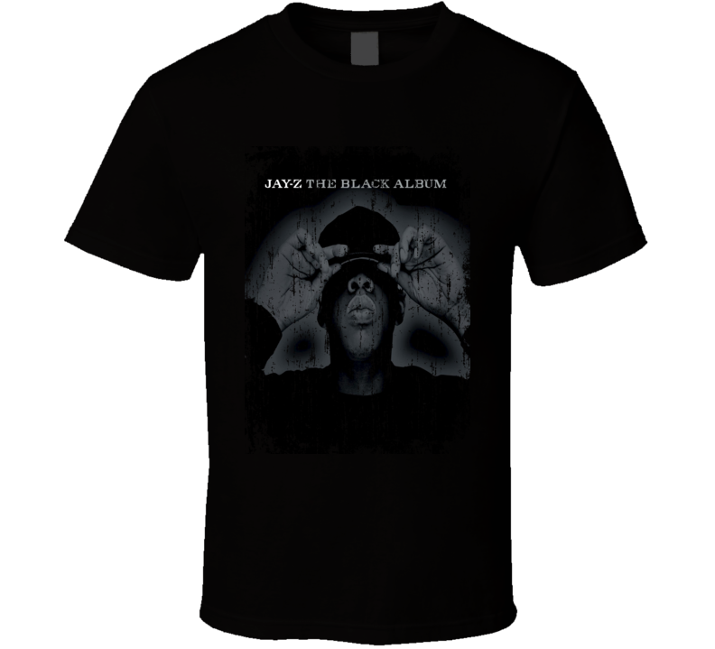 Jay Z The Black Album Worn Look 2003 Album Worn Look Cover T Shirt
