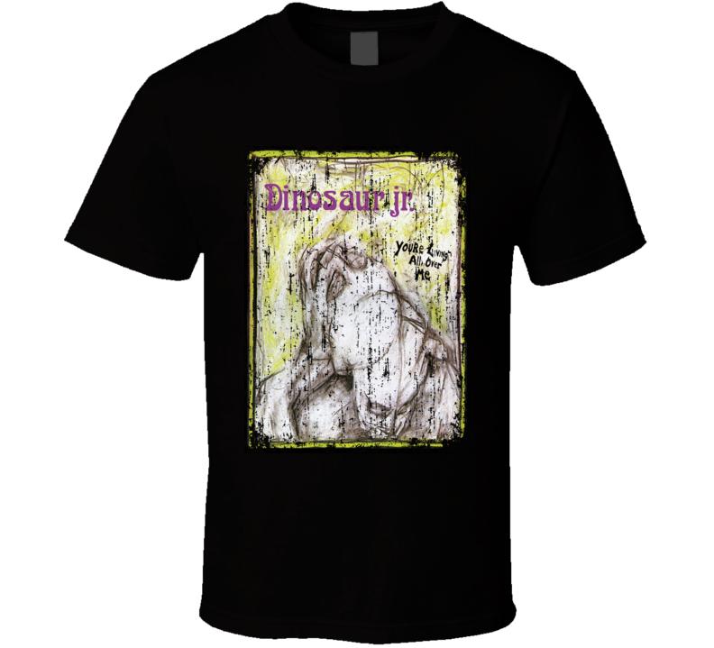 Dinosaur Jr Living All Over Me 1987 Album Worn Look Cover T Shirt