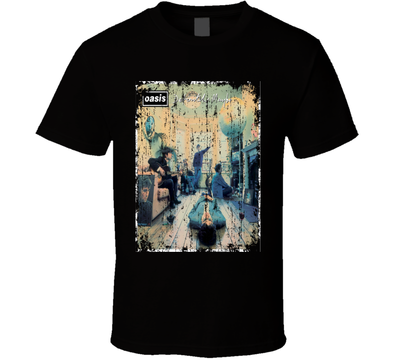 Oasis Definitely Maybe 1994 Album Cool Worn Look Cover T Shirt