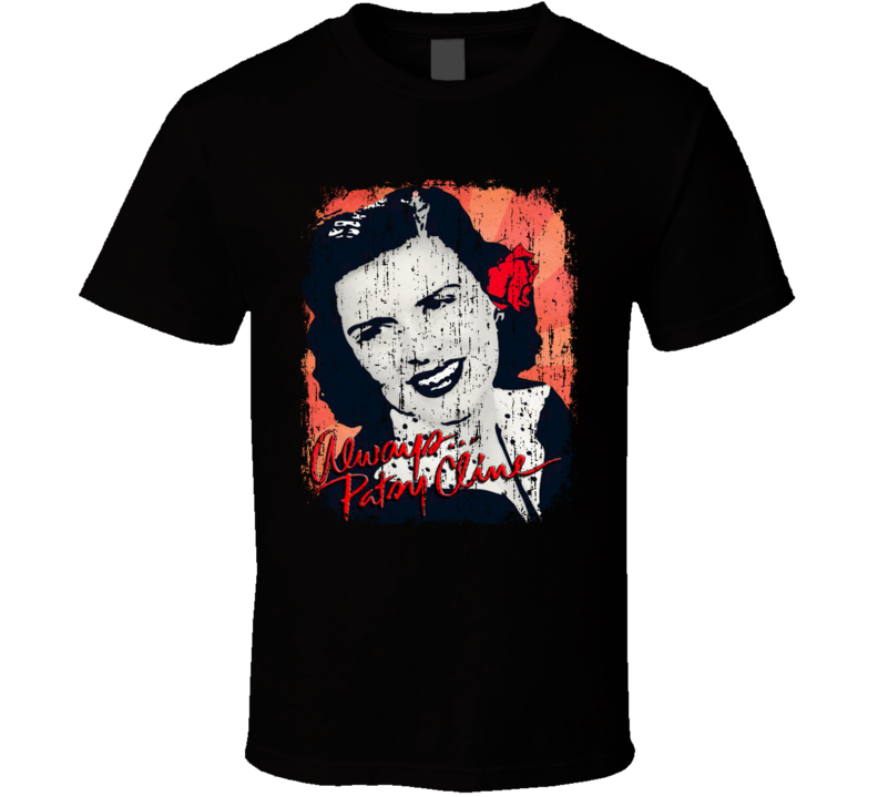 Patsy Cline Great Country Music Cool Artist Worn Look T Shirt