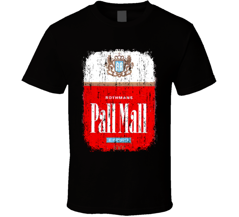 Pall Mall US Cigarette Smoker Fathers Day Worn Look Cool T Shirt