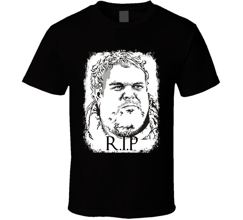 R.I.P Hodor Game of Thrones Character Memorial Faded Look T Shirt