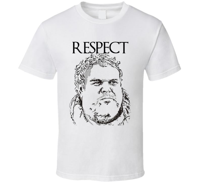 Respect Hodor Game of Thrones Character Memorial Faded Look T Shirt