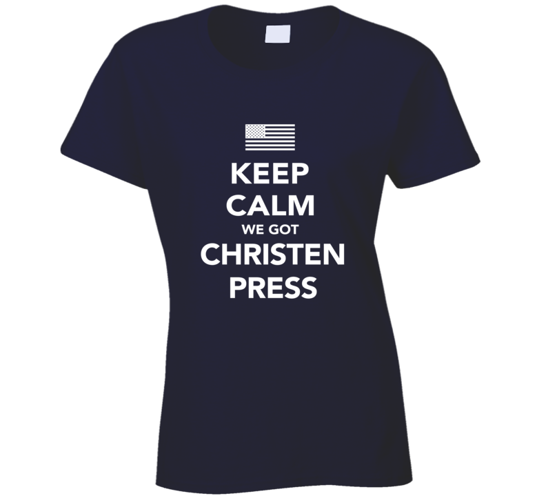 Christen Press Keep Calm Team USA 2016 Olympics Soccer Ladies T Shirt