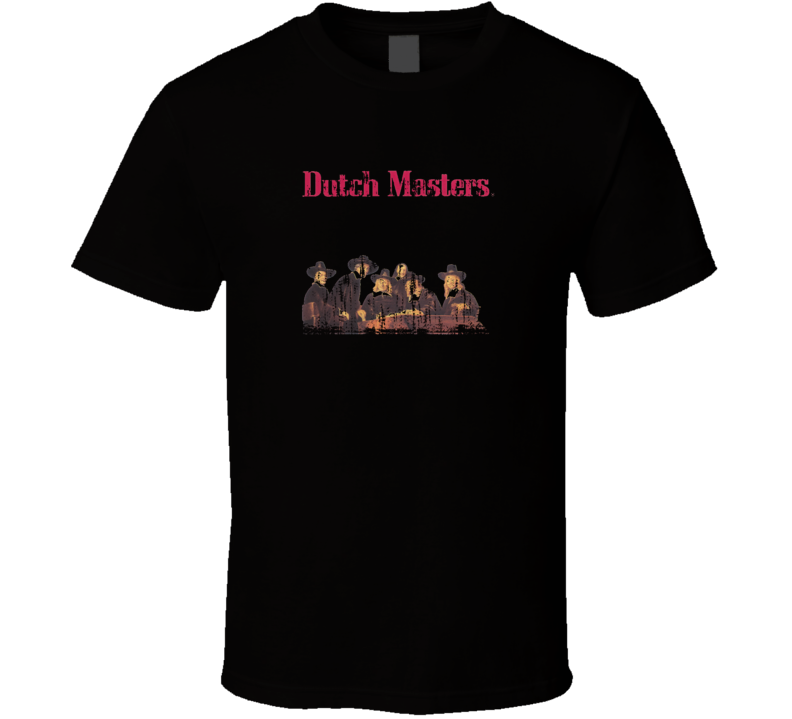 Dutch Masters US Cigar Smoker Fathers Day Worn Look Cool T Shirt