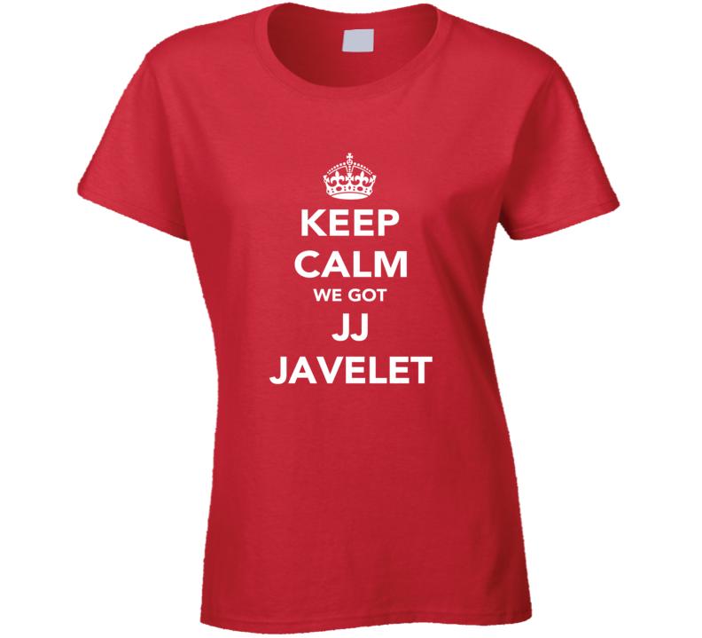 JJ Javelet Keep Calm Team USA Rugby Fan Faded Look Ladies T Shirt