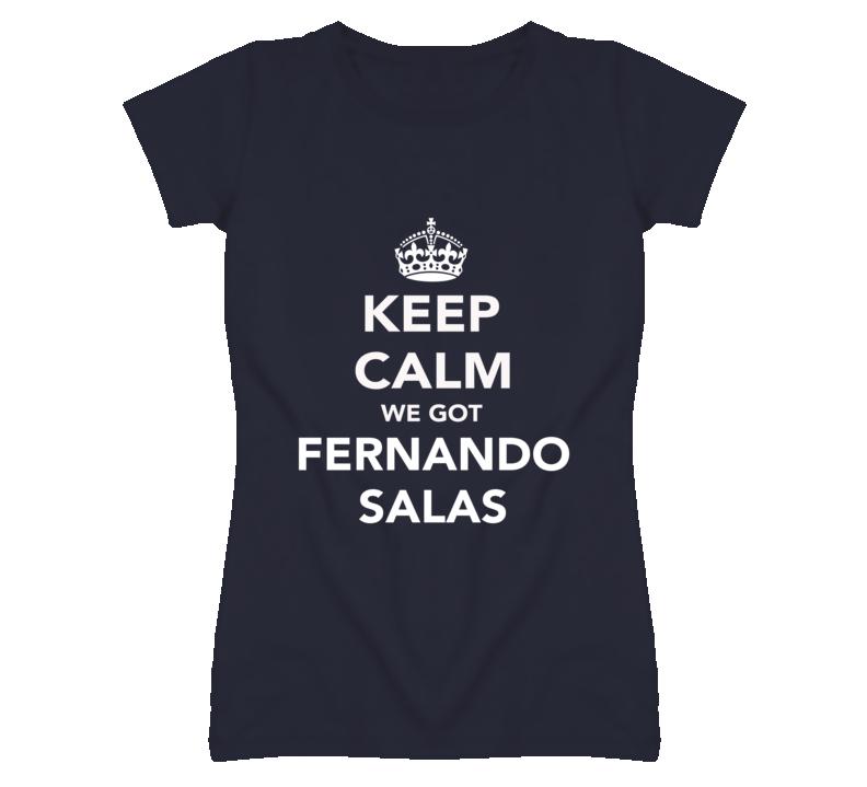 Keep Calm Fernando Salas Angels Fan Ladies Funny T Shirt