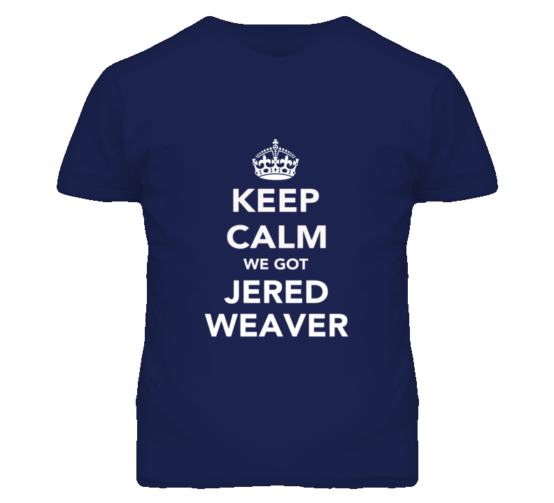Keep Calm Jered Weaver Angels Fan Mens Funny T Shirt