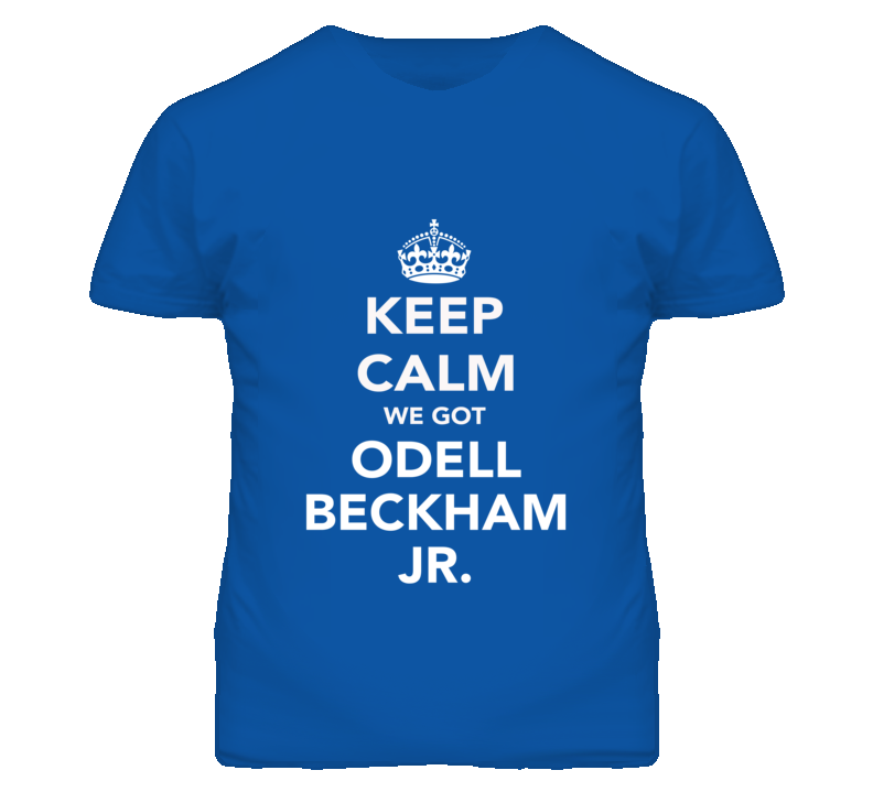 Keep Calm Odell Beckham Jr. New York Football Fan Mens Funny T Shirt