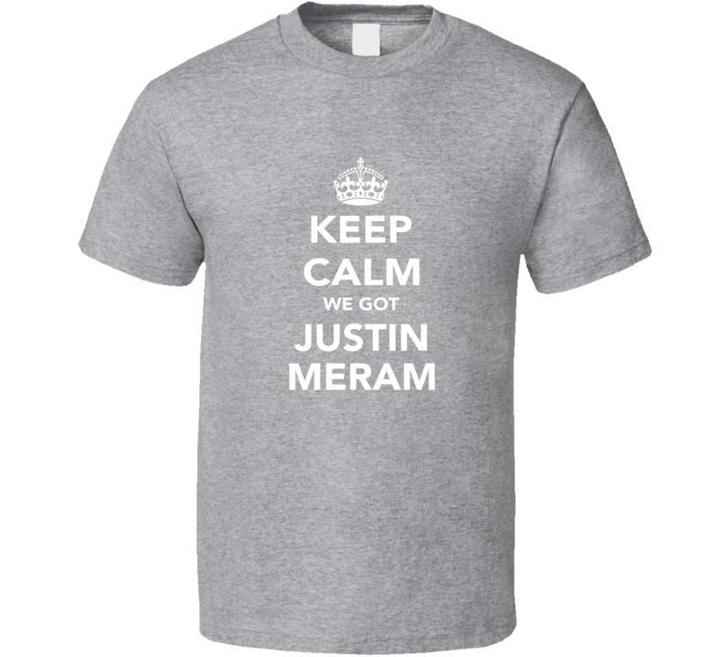Justin Meram Keep Calm Columbus Soccer Fan Parody Funny T Shirt