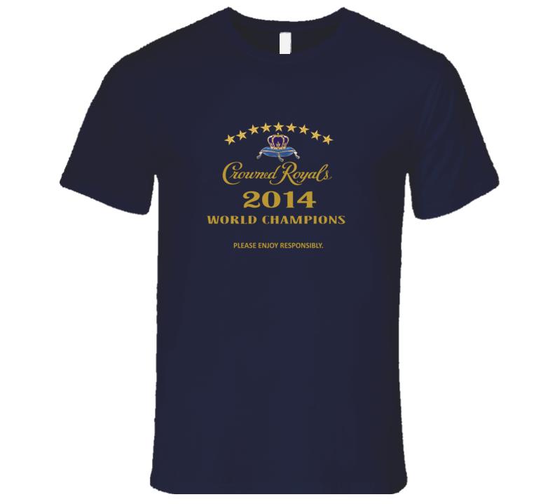 Salvador Perez Please Enjoy Crown Royals Parody KC Baseball T Shirt