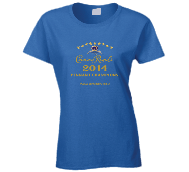 Crown Royals Kansas Woman Pennant Victory Brag Rights Apparel T Shirt