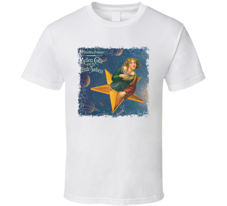 The Smashing Pumpkins Mellon Collie Album Cover Worn Look T Shirt