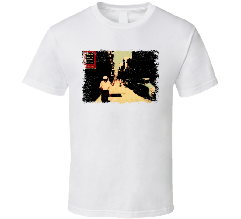 Buena Vista Social Club  Album Cover Worn Look T Shirt