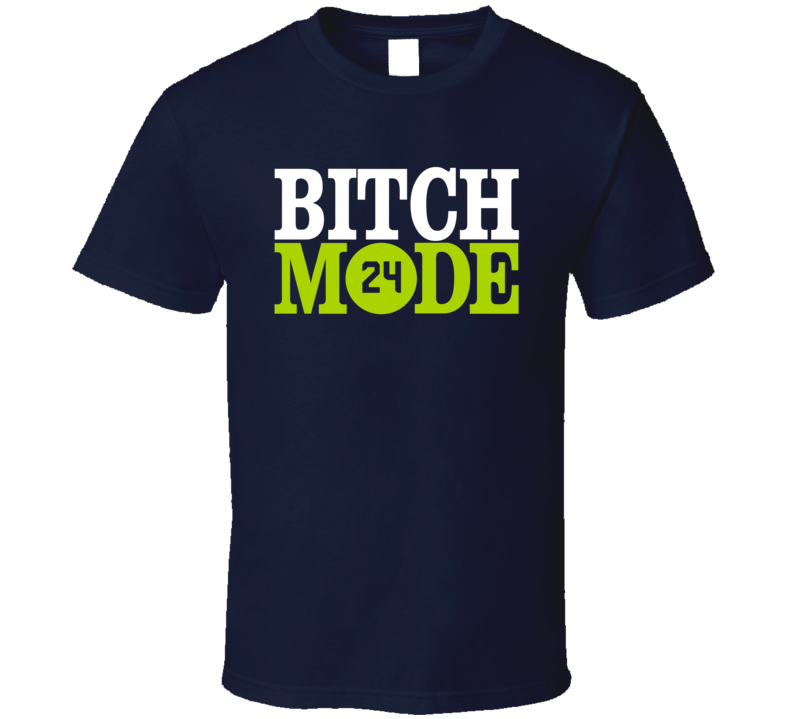 Seattle Seahawks Marshawn Lynch Beast Mode Funny Bitch Parody T Shirt