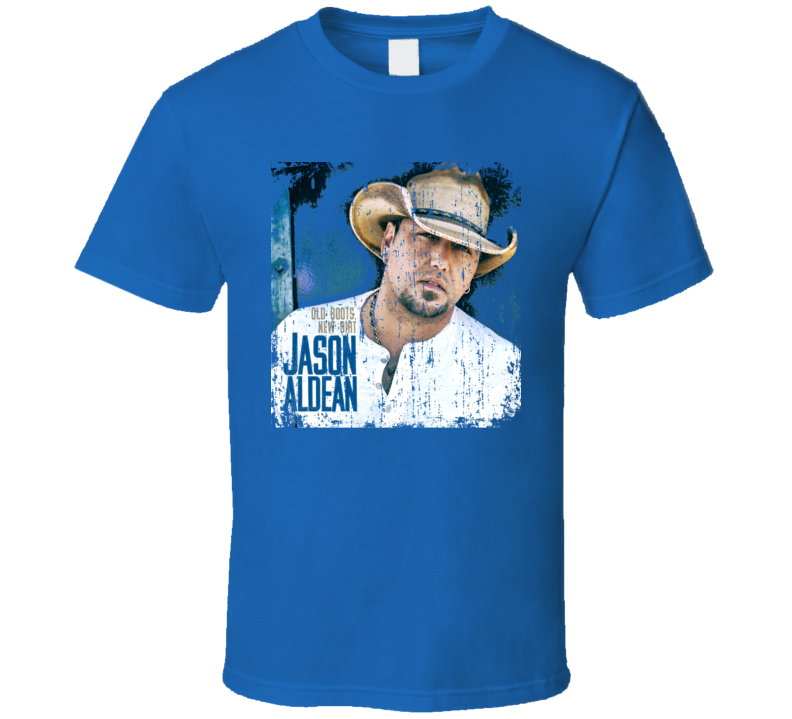 Jason Aldean Old Boots New Dirt Worn Look Album Cover T Shirt